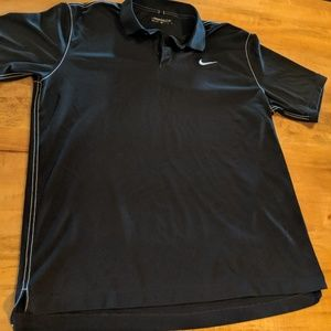 Nike Golf black dri fit polo XL